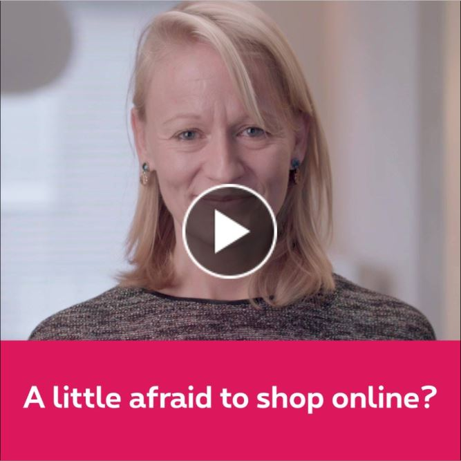 a little afraid to shop online?