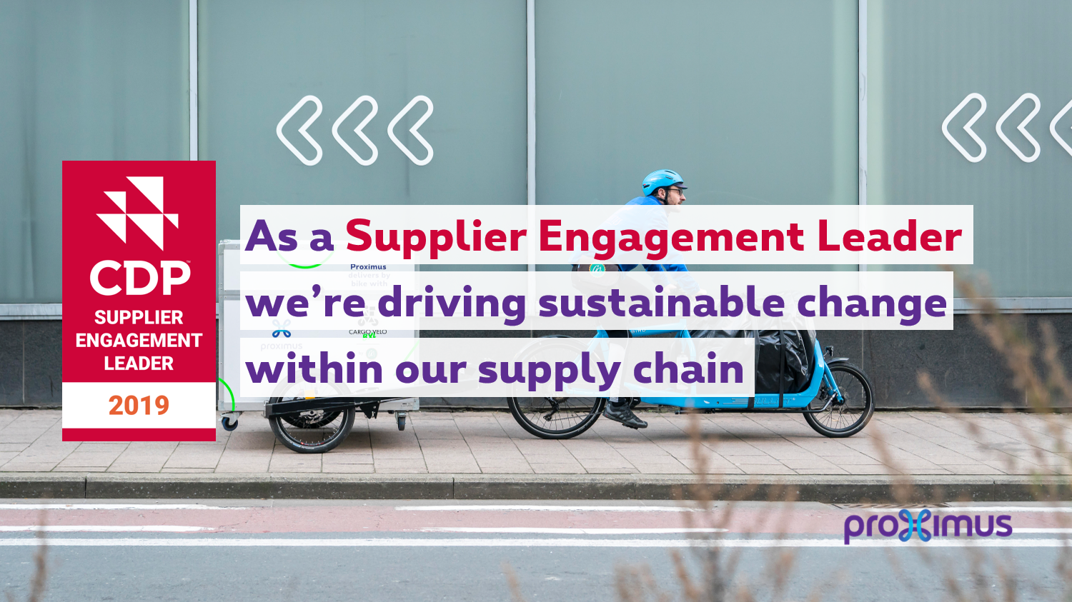 CDP Supplier Engagement Leader 2019 : As a Supplier Engagement Leader, we're driving sustainable change within our supply chain