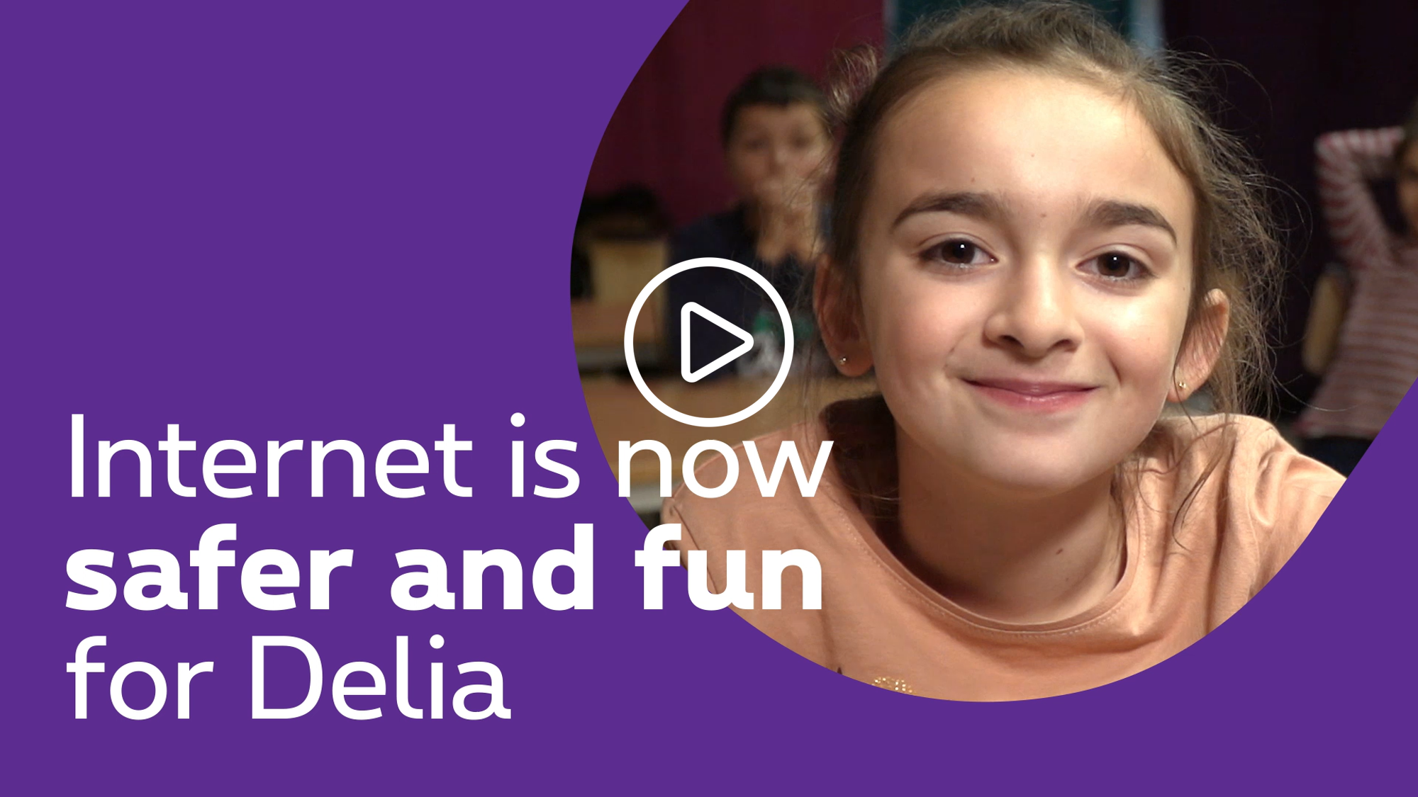 Internet is now safe and fun for Delia - click to discover the video
