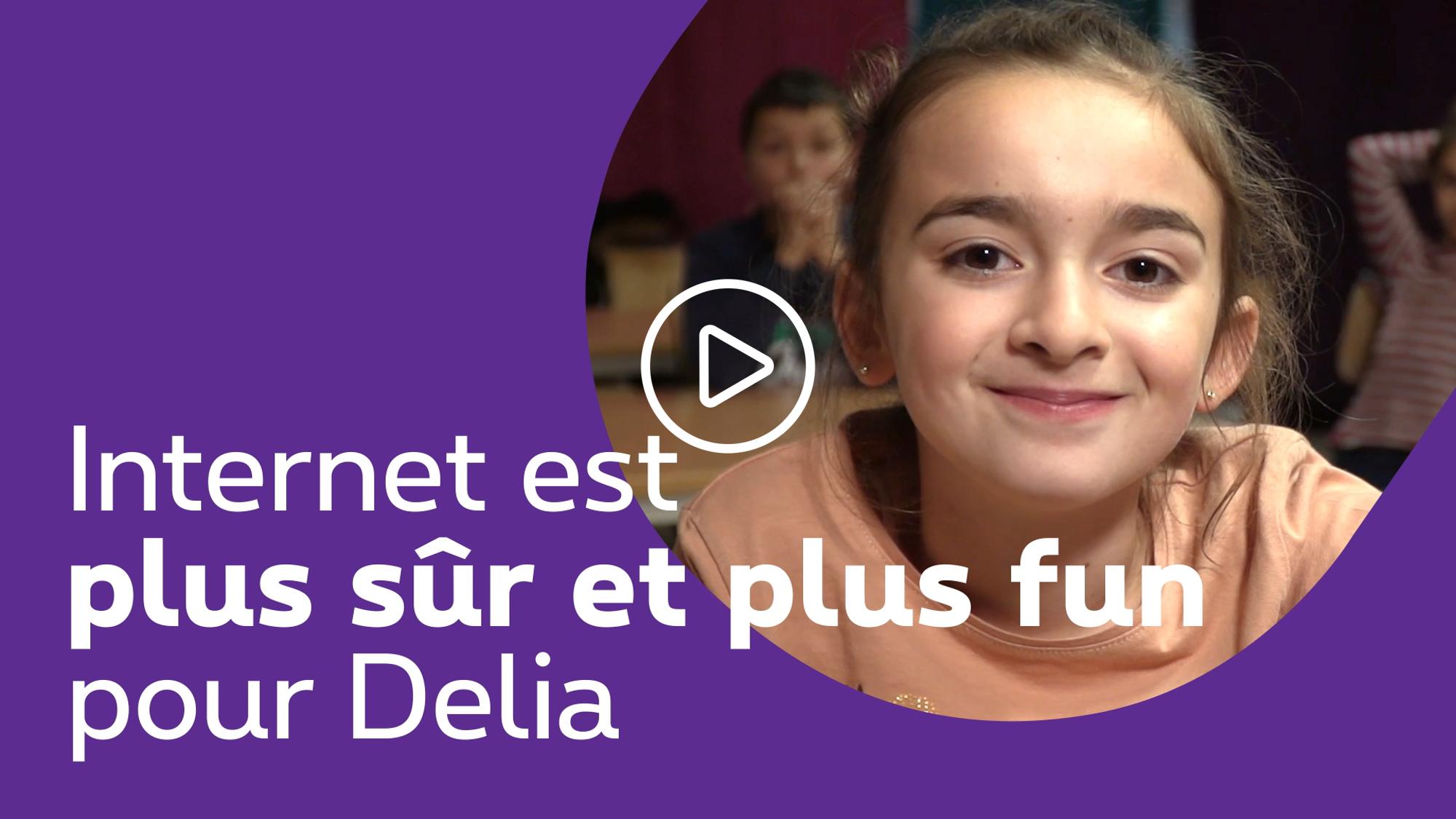 Internet est maintenant plus sûr et plus fun pour Delia - clique pour découvrir la video